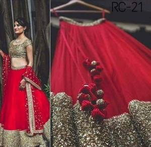 Beautiful taffeta silk  Sequence work Lehenga with Heavy Blouse