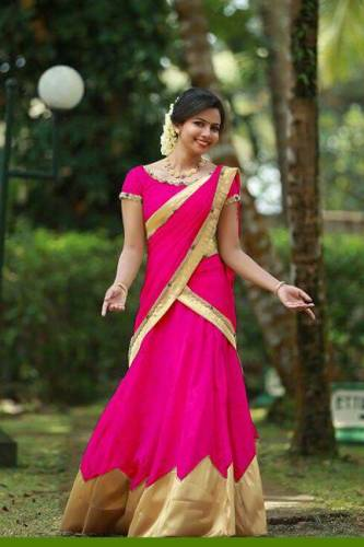 Marvellous Pink Colored Tapeta Silk With Golden Border Stone Work Heavy Lehenga Choli-VT1159DVDVK817F
