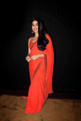 Admiring Orange Pure Silk With Velvet Fancy Saree For Party Wear