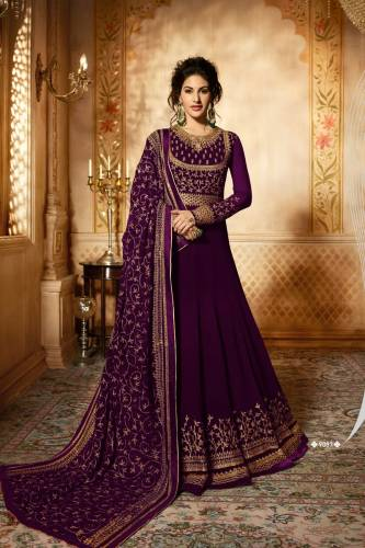 Bewildering Bit Color Georgette Embroidered Anarkali Suit For Woman