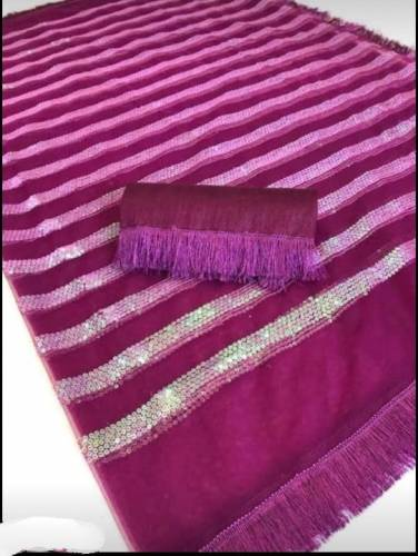Amazing Purple Net With Sequence Work Saree-VT2024101F