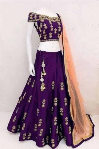 Alluring Wine Tapetta Silk With Embroidered Work Lehenga Choli-VT1159DVD9040C