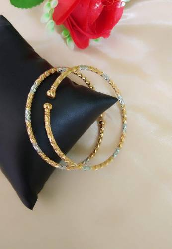 Dazzling Silver Golden Colored Imitation Bangles Set KLP381