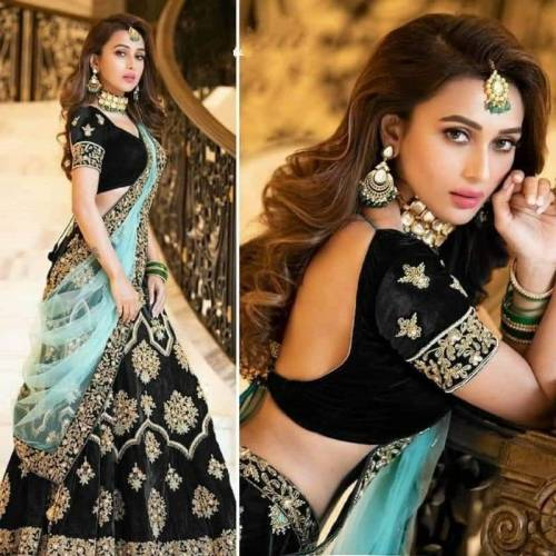 Captivation Black Color Semi Stitched Tapeta Velvet Fancy Embroidered Work Lehenga Choli For Occasion Wear
