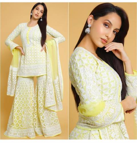 Wedding Wear Georgette With Heavy Embroidered work Stitched Kurta Plazo
