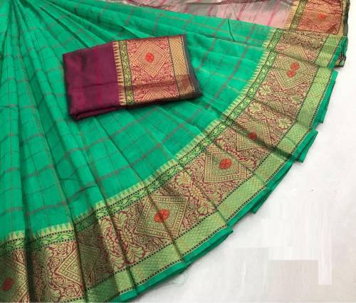 Adorable Wear Light Green  Kashmiri Cotton silk saree