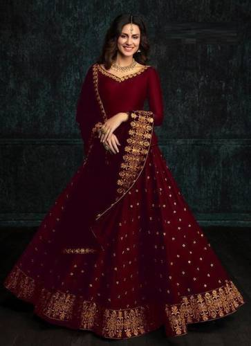 Adorable Designer Tapeta Silk With Embroidery Work lehenga Choli (1)