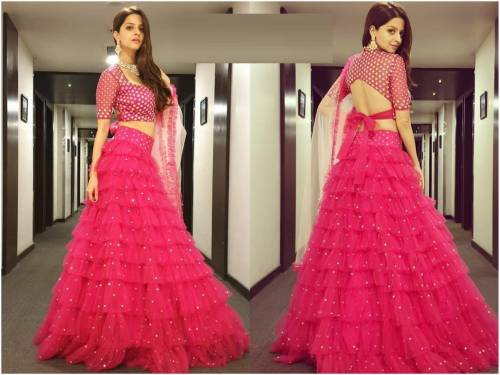 Awesome Mono Net Jari Embroidered Work Lehenga With Choli