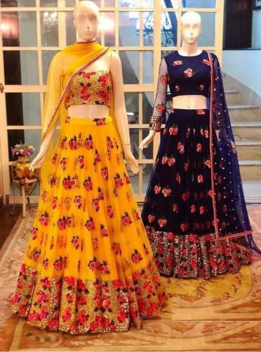 Adorable Festive wear Mono Net Zari Embroided Lehenga Choli