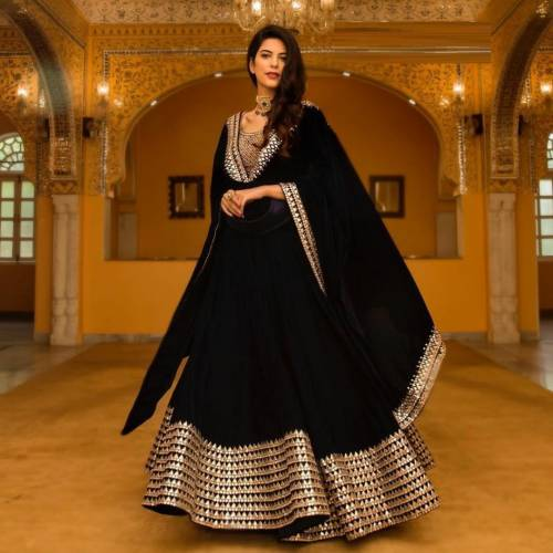 Function Wear  Georgette Silk  Embroidered Lehnga Choli