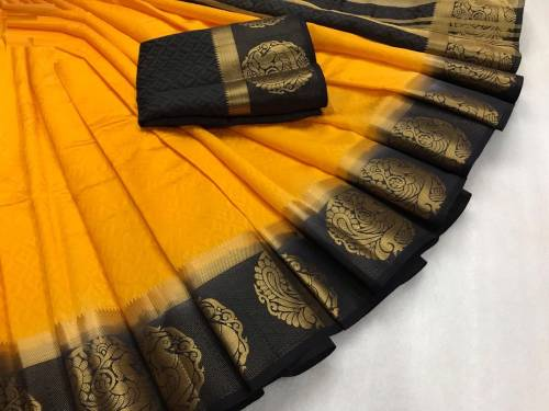 Marvellous Designer Wear Kanjivaram tusser silk  Saree For Women