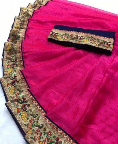 Amazing Heavy Jenny Silk thousand butti jaqard weaving saree -VT3074103D